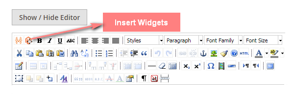 Magento 2 - insert widgets to CMS pages