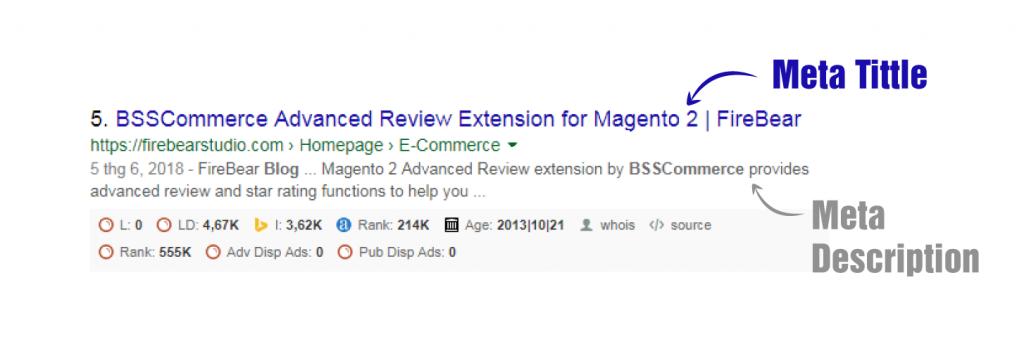 Magento 2 CMS page metadata