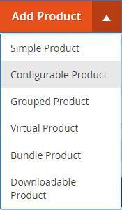 Add Product Menu