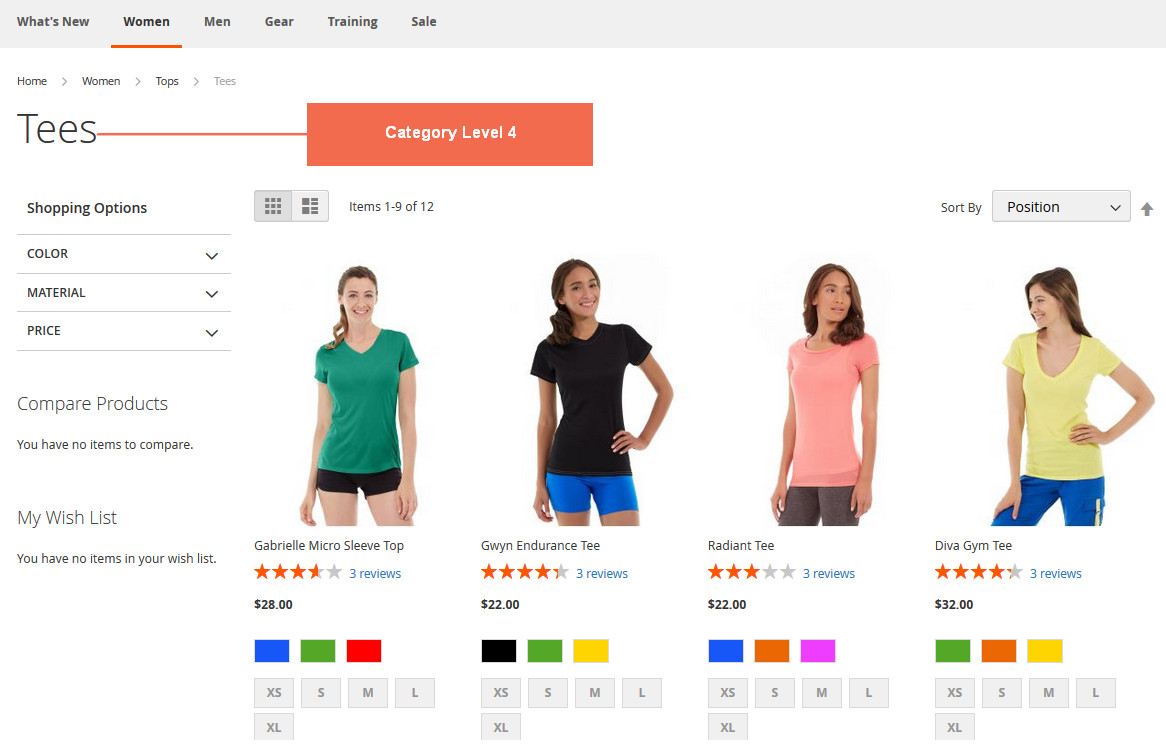 Top Navigation Menu in Magento 2