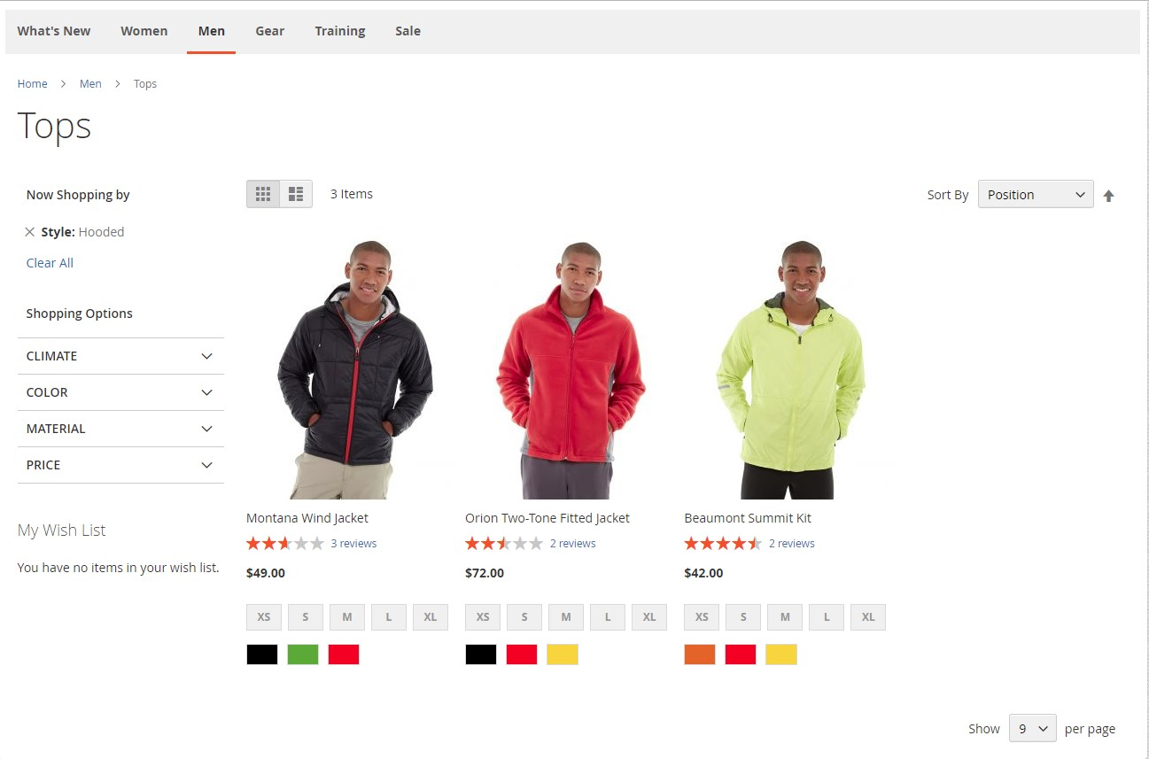 Magento 2 Pagination frontend