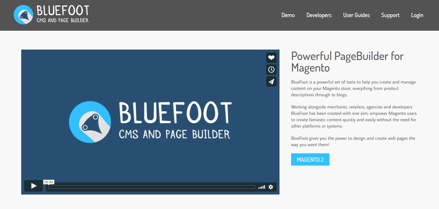 Magento 2.3 blue foot cms