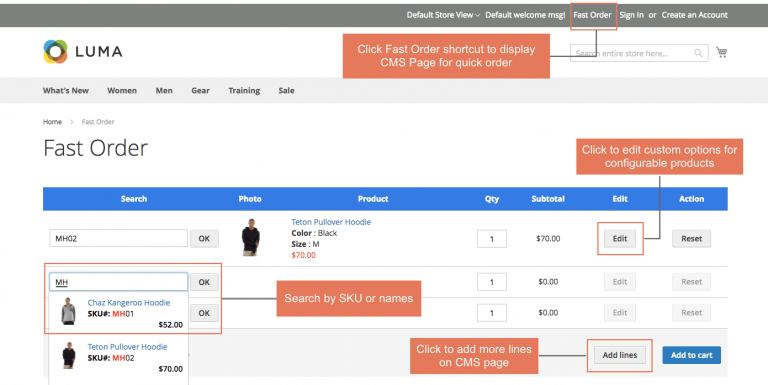 Magento 2 Wholesale Fast Order