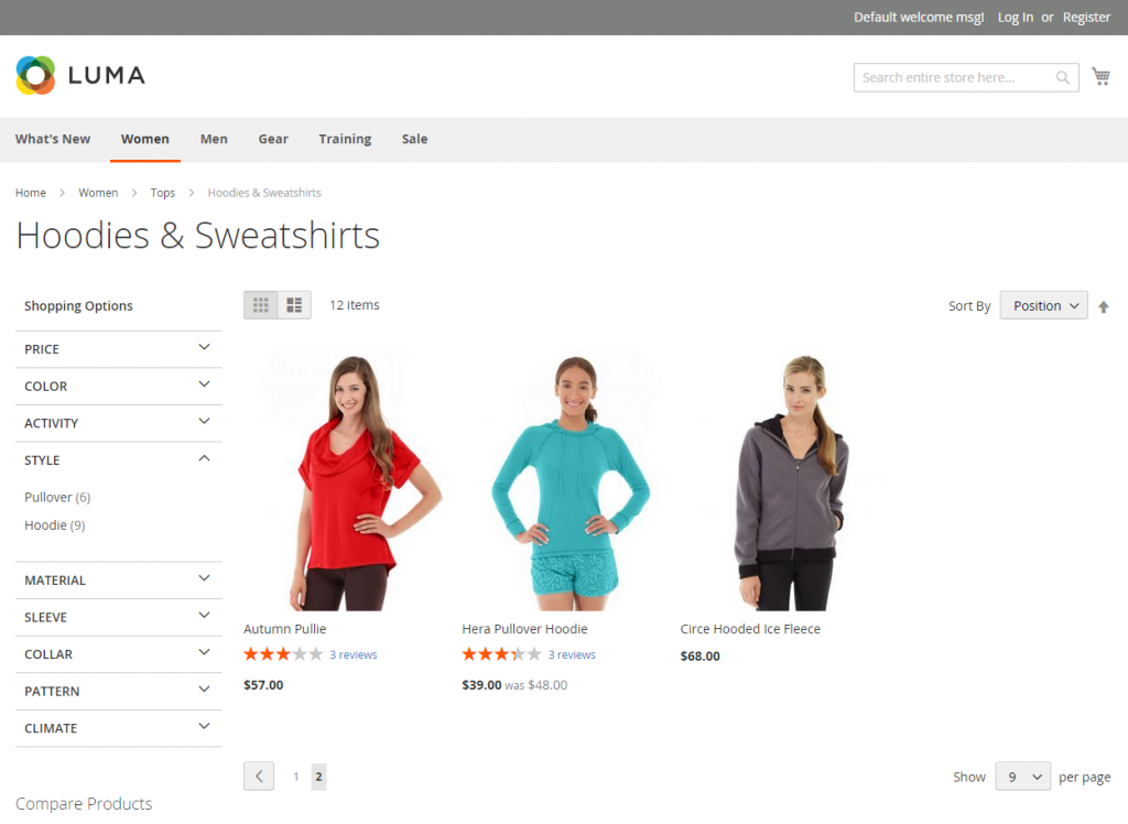 Magento 2 Layered Navigation Filterable Attributes