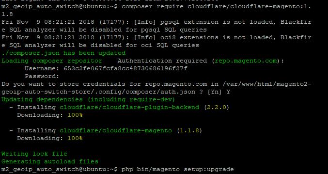 SSH cloudflare cdn magento 2