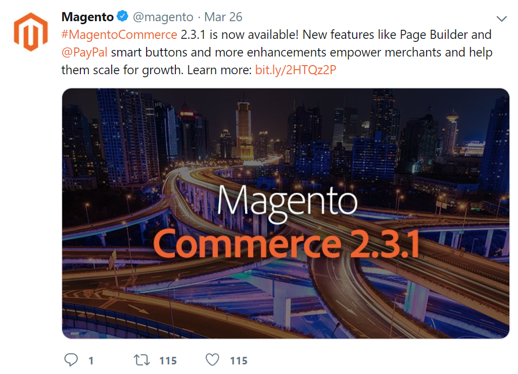 Magento 2.3.1 has been officially launched
