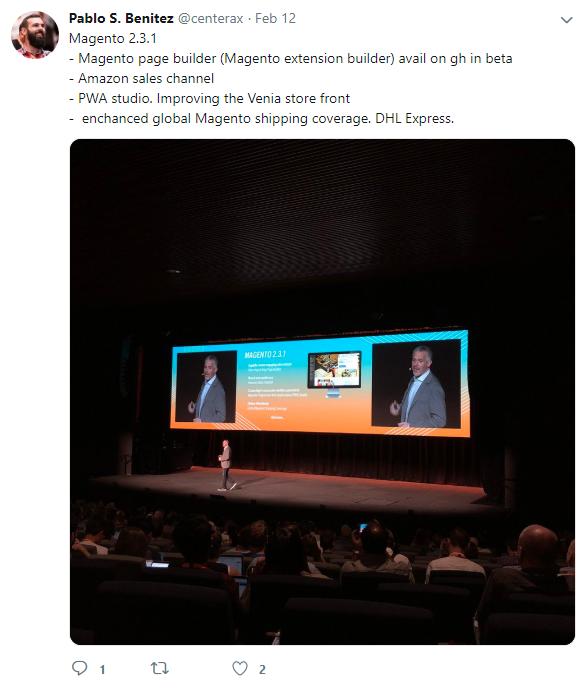 magento 2.3.1 pablo s benitez tweet