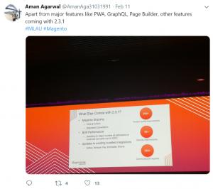 magento 2.3.1 Aman Agarwal tweet