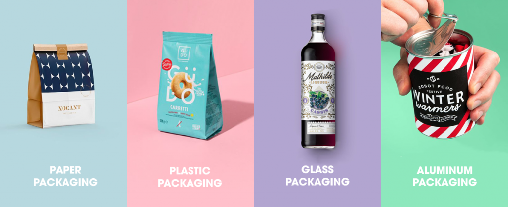 most common packaging materials