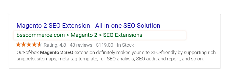 magento 2 seo tool - rich snippets