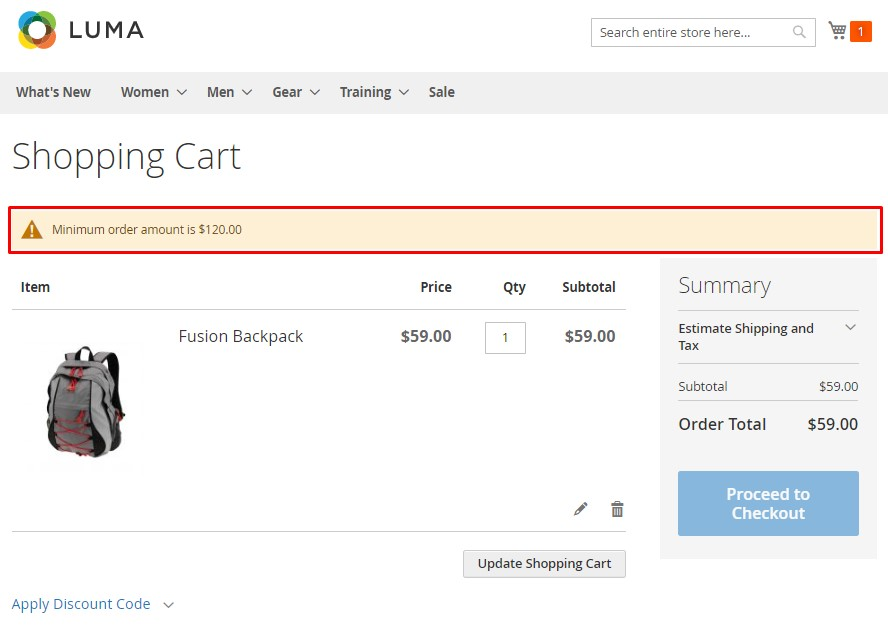 Magento 2 Minimum Order Amount for Customer Group extension