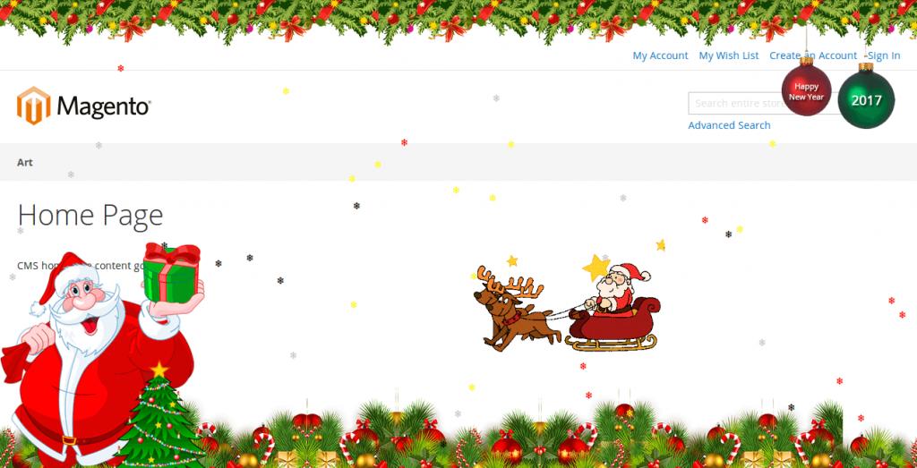 magento 2 christmas snowflakes