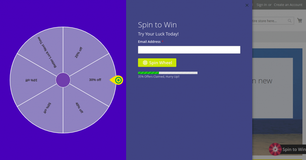 magento 2 spin to win