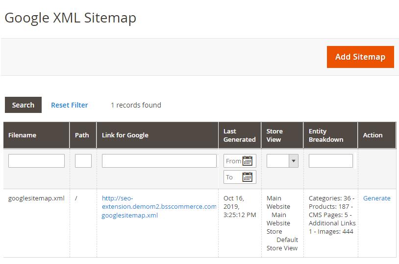 xml-sitemap-management