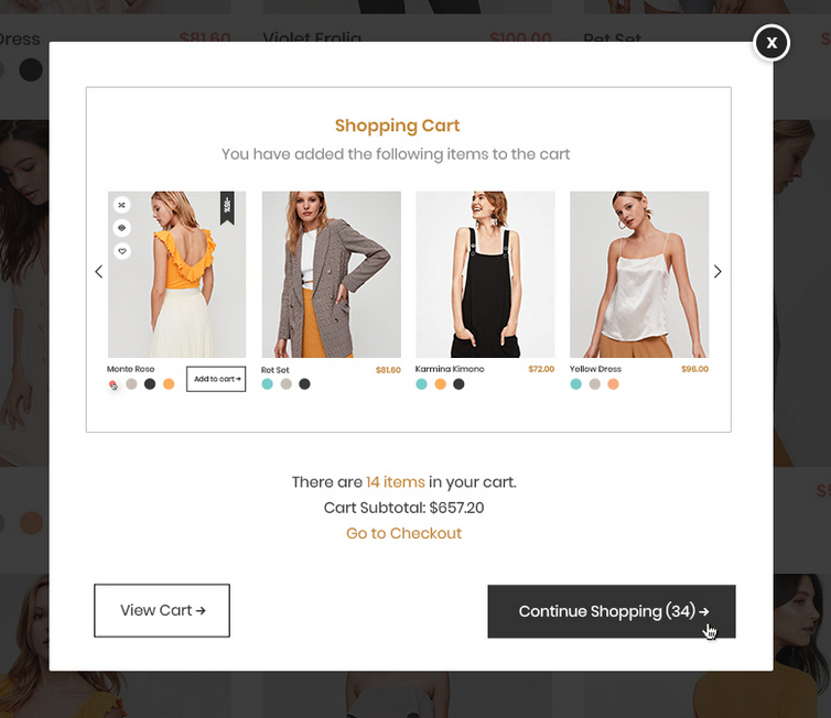 ajax popup - magento wholesale extension