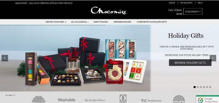 chocomize-b2b-ecommerce-examples