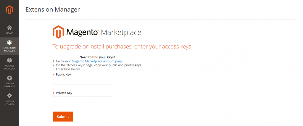 how-to-install-magento-2-theme-component-manager-paste-access-keys