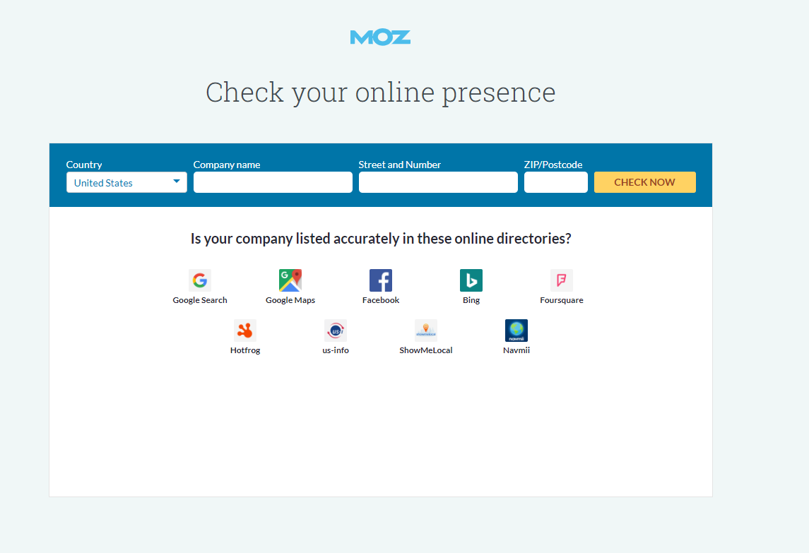 local seo audit with moz