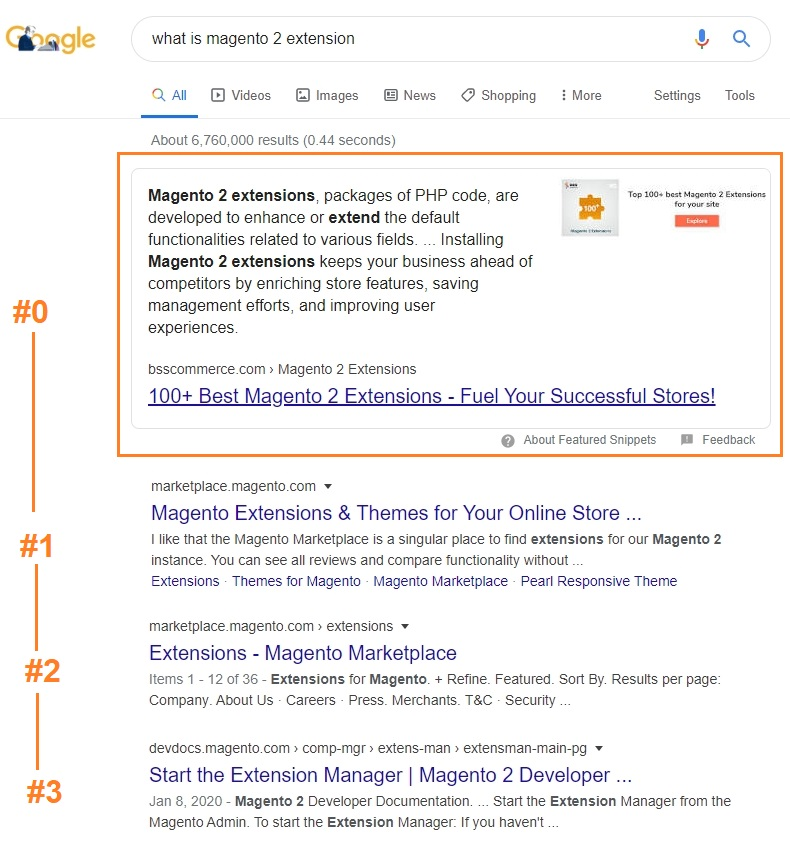 featured snippets magento 2 seo