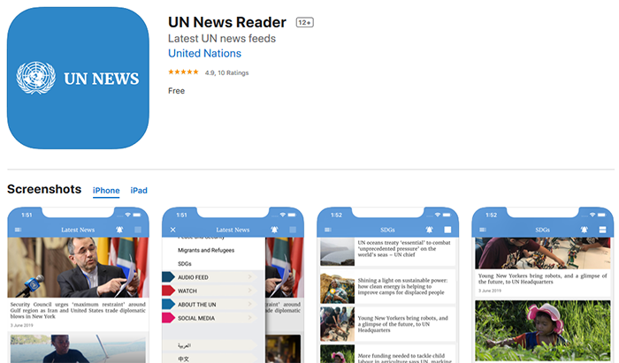 un-news-reader-apple-app-store