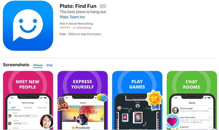 Plato-chat-app-on-apple-app-store