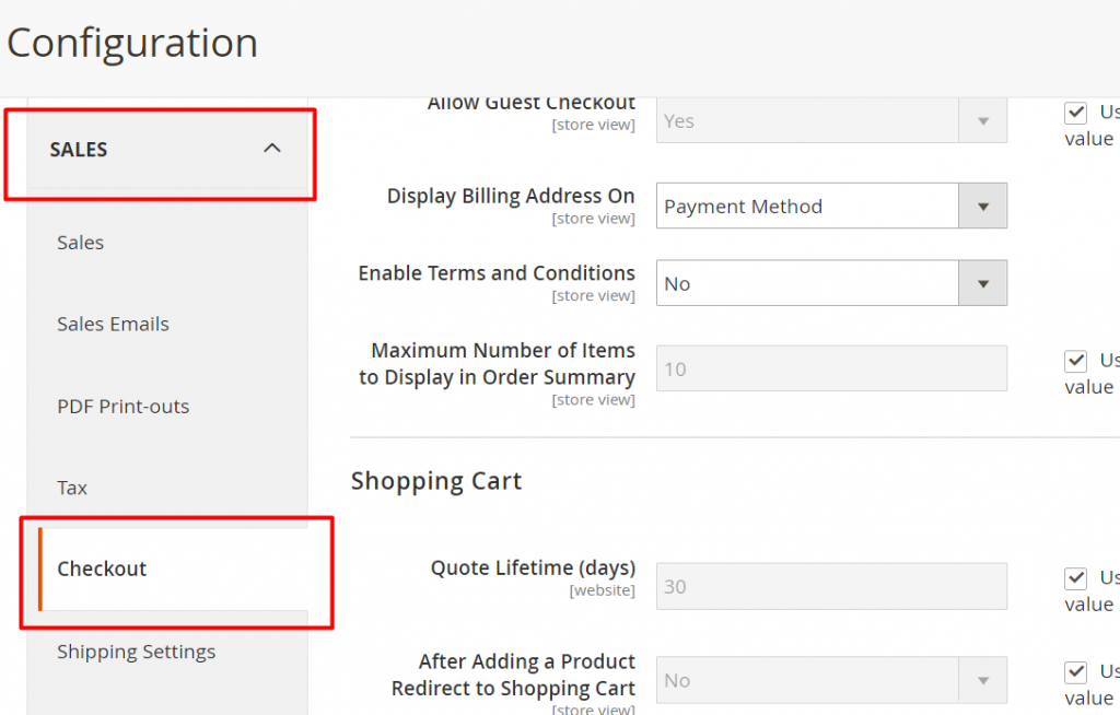 magento-2-onepage-checkout-config