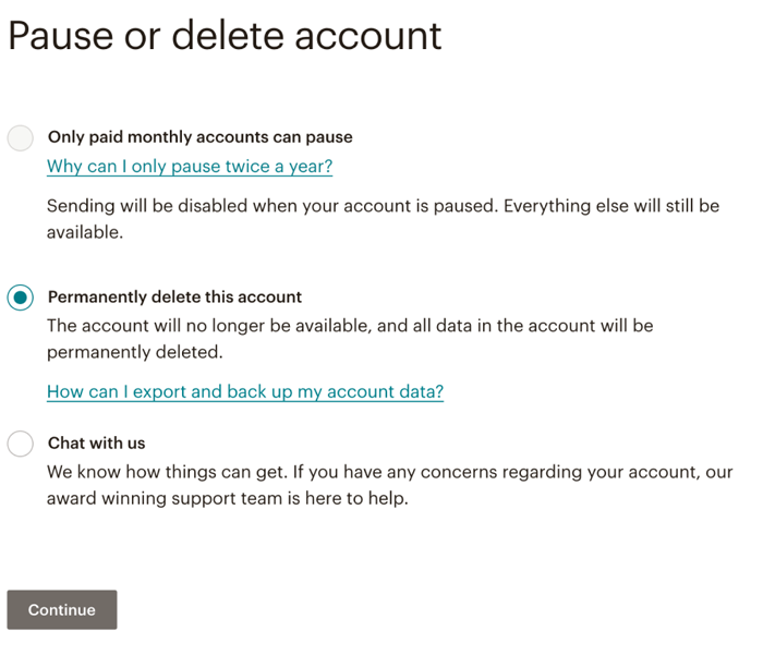 pause-or-delete-account-mailchimp