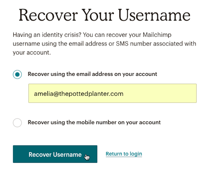 recover-your-username-mailchimp-account