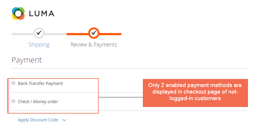 shipping-and-payment-method-per-customer-group-frontend