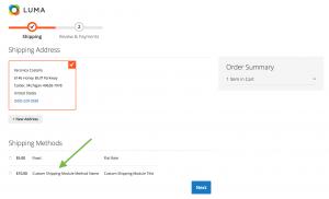 M2 checkout customization frontend