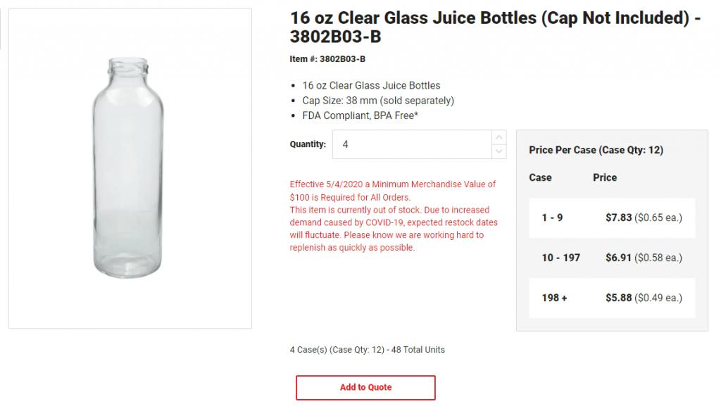 berlin packaging - tier pricing