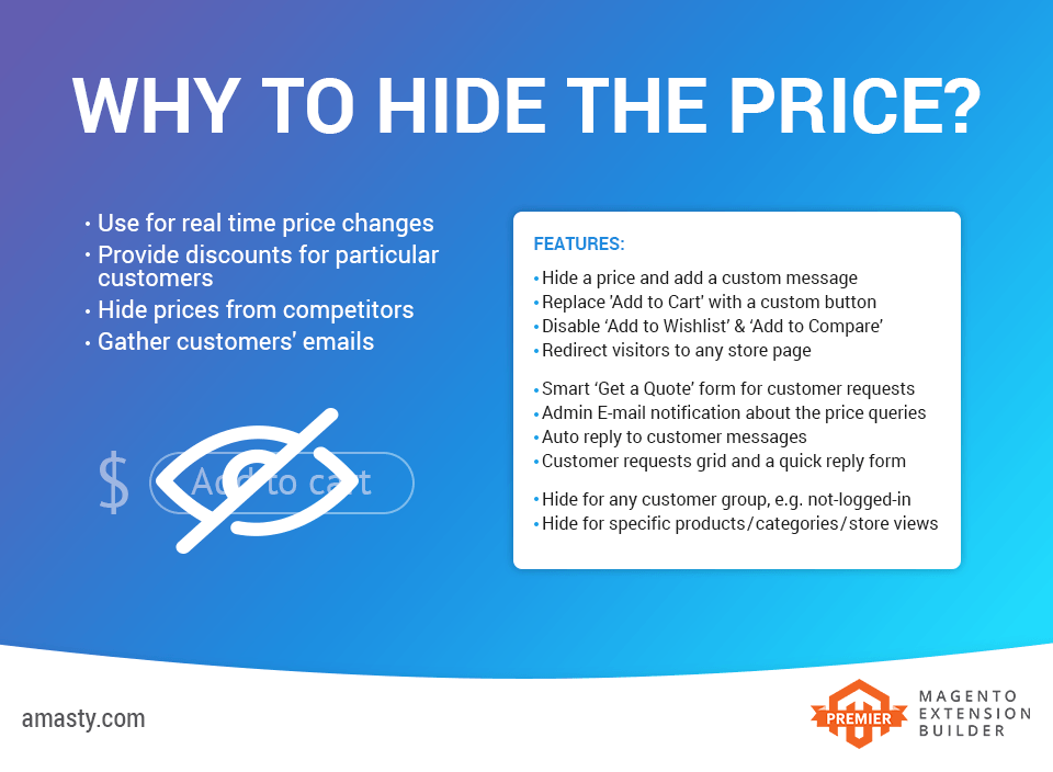 hide product price - amasty