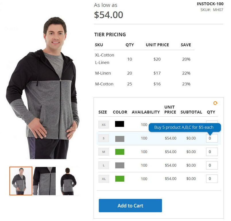 b2b-order-placement-configurable-product-grid-table-view