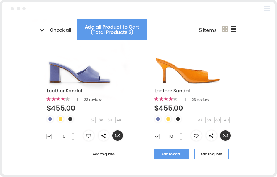 magento b2b2c - add multiple products to cart