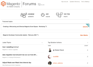 Magento Support Forums