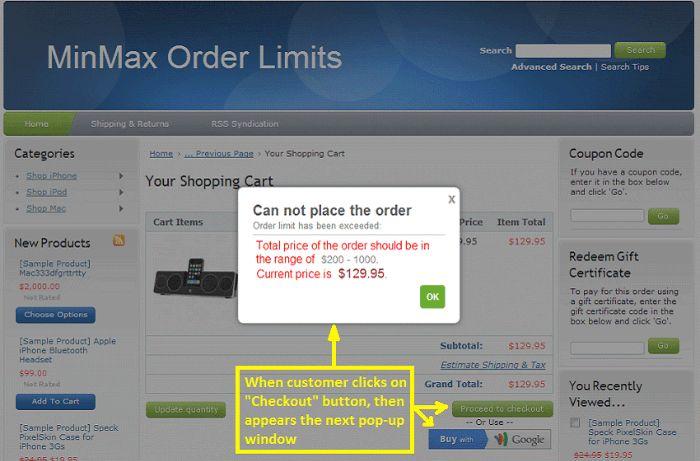 minmax-order-limits
