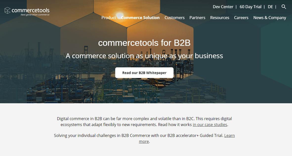 B2B wholesale platform - Commercetools