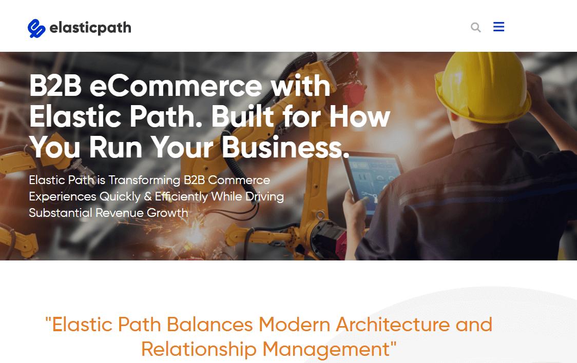 B2B wholesale platform - Elastic Path Software