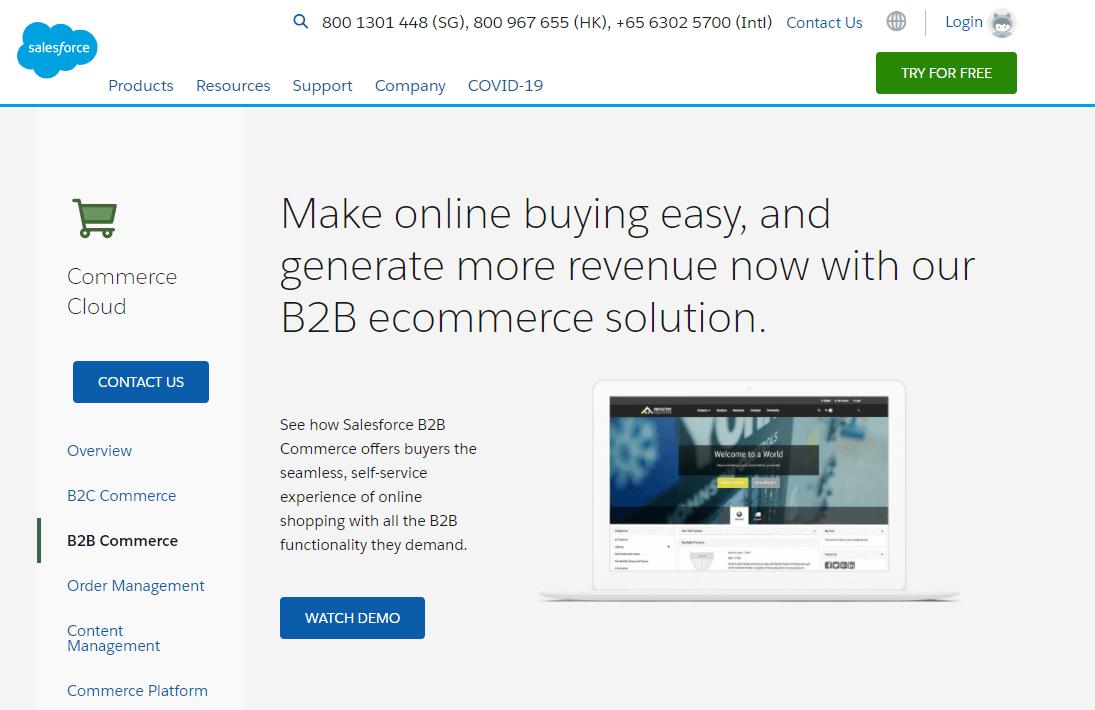 B2B wholesale platform - Salesforce Commerce Cloud
