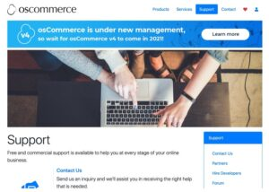 OsCommerce support