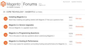 magento support forum