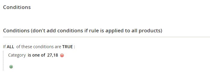 catalog rule conditions