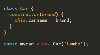 "create an object using the ""Car"" class"