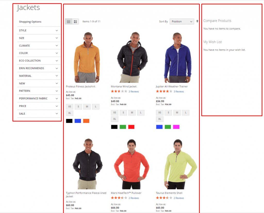 magento 2 page layout