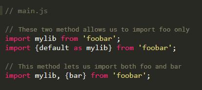 import methods