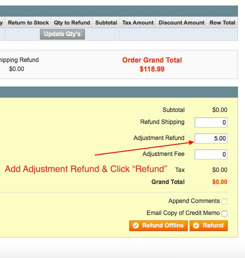 Refund bundle products
