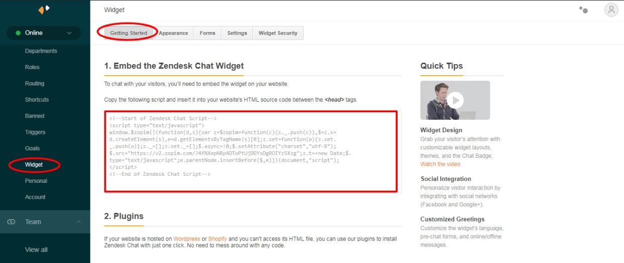 widget-code