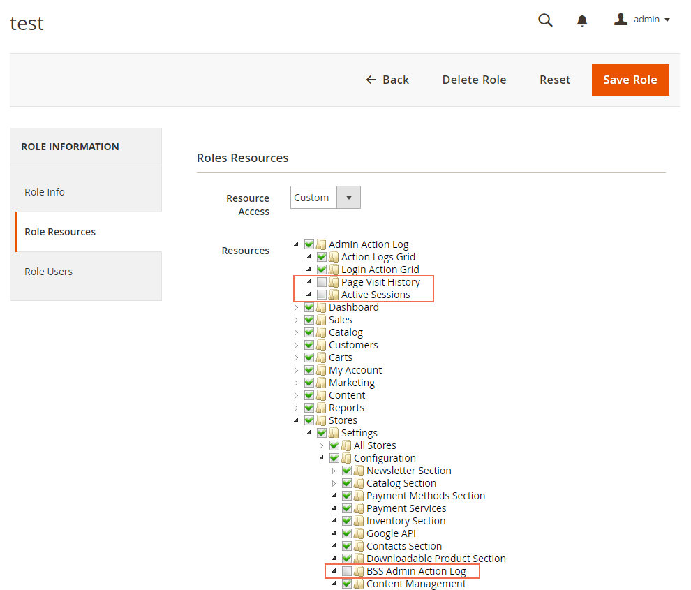 Be able to manage user roles to use the admin website