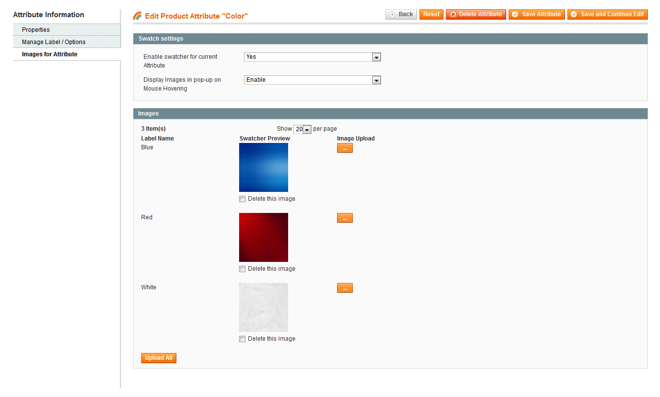 BSS Color Swatch Extension