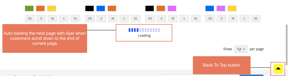 infinite scroll magento 2-ajax loading